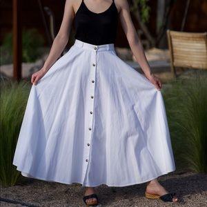 Vtg White Skirt